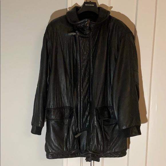 Hugo Boss Other - ✅ BOSS HUGO Boss Genuine Lambskin Leather Coat 54